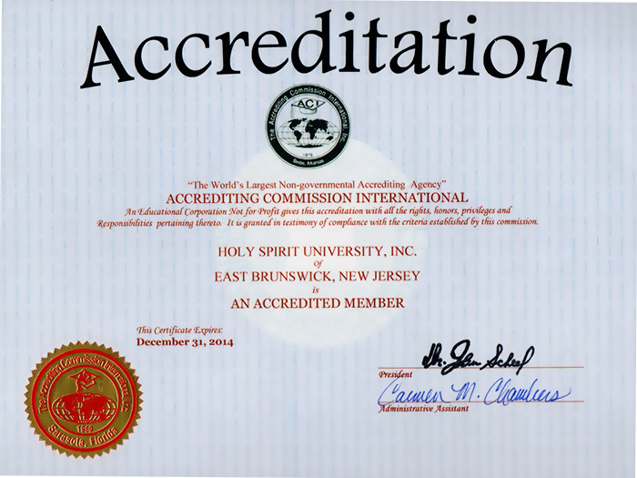 Accrediting Certificate